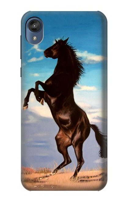 S0934 Wild Black Horse Case For Motorola Moto E6, Moto E (6th Gen)