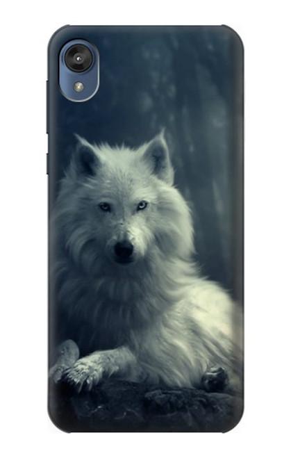 S1516 White Wolf Case For Motorola Moto E6, Moto E (6th Gen)