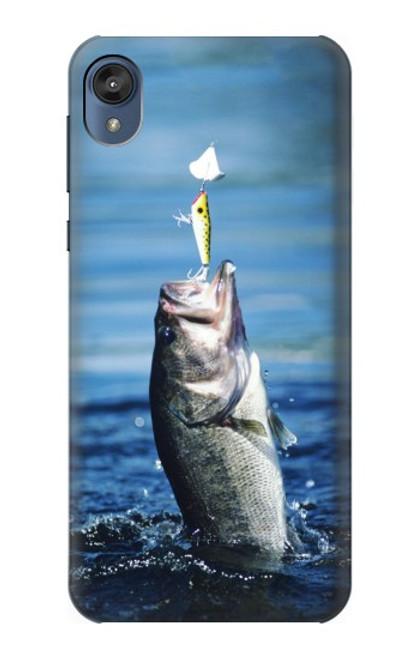 S1594 Bass Fishing Case For Motorola Moto E6, Moto E (6th Gen)