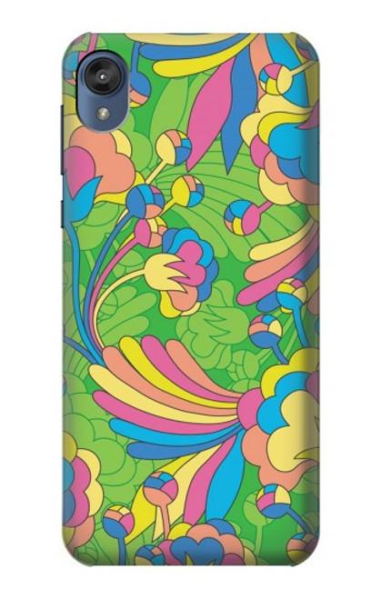 S3273 Flower Line Art Pattern Case For Motorola Moto E6, Moto E (6th Gen)