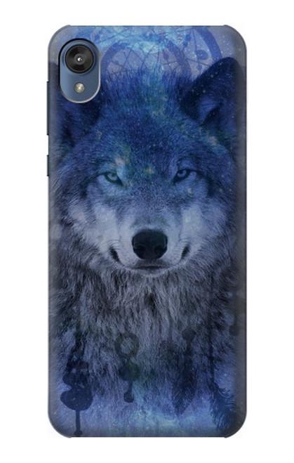 S3410 Wolf Dream Catcher Case For Motorola Moto E6, Moto E (6th Gen)
