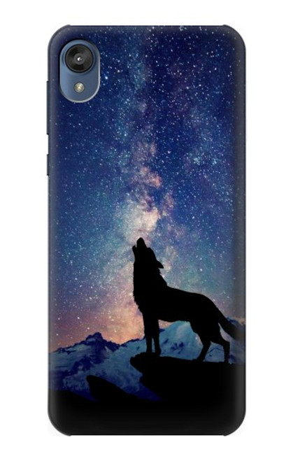 S3555 Wolf Howling Million Star Case For Motorola Moto E6, Moto E (6th Gen)
