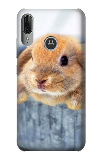 S0242 Cute Rabbit Case For Motorola Moto E6 Plus, Moto E6s