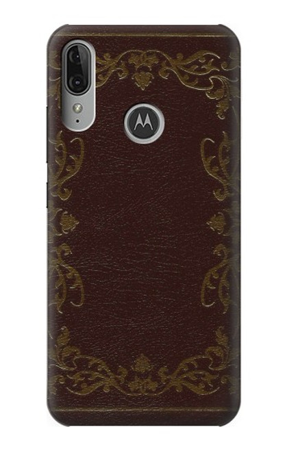 S3553 Vintage Book Cover Case For Motorola Moto E6 Plus, Moto E6s