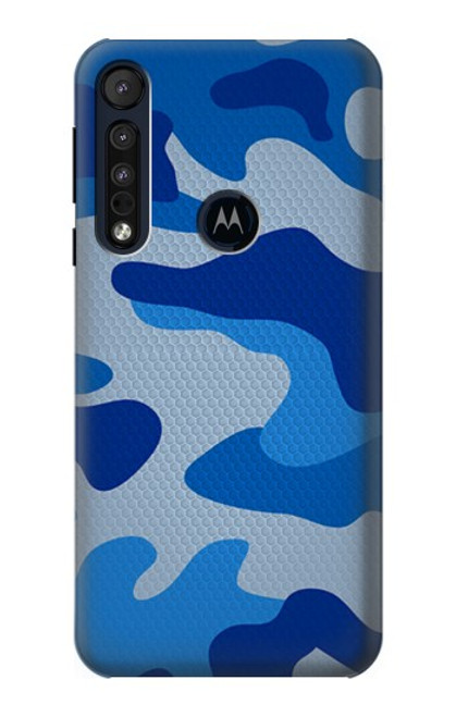 S2958 Army Blue Camo Camouflage Case For Motorola One Macro, Moto G8 Play