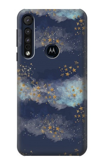 S3364 Gold Star Sky Case For Motorola One Macro, Moto G8 Play