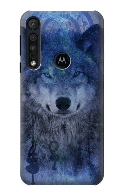 S3410 Wolf Dream Catcher Case For Motorola One Macro, Moto G8 Play