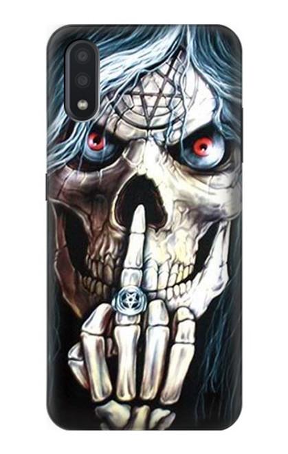 S0222 Skull Pentagram Case For Samsung Galaxy A01