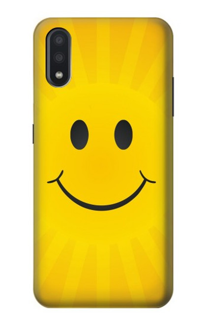 S1146 Yellow Sun Smile Case For Samsung Galaxy A01