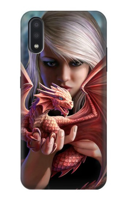 S1237 Baby Red Fire Dragon Case For Samsung Galaxy A01