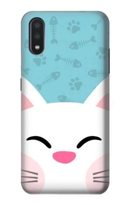 S3542 Cute Cat Cartoon Case For Samsung Galaxy A01