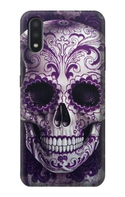 S3582 Purple Sugar Skull Case For Samsung Galaxy A01