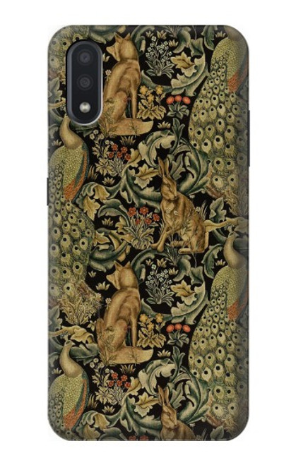 S3661 William Morris Forest Velvet Case For Samsung Galaxy A01