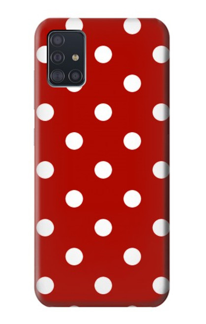 S2951 Red Polka Dots Case For Samsung Galaxy A51