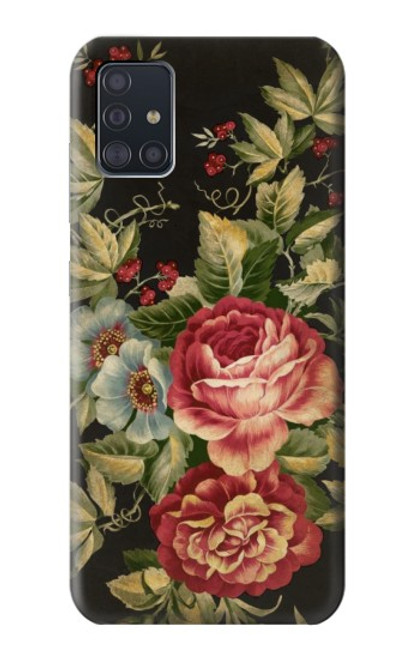 S3013 Vintage Antique Roses Case For Samsung Galaxy A51
