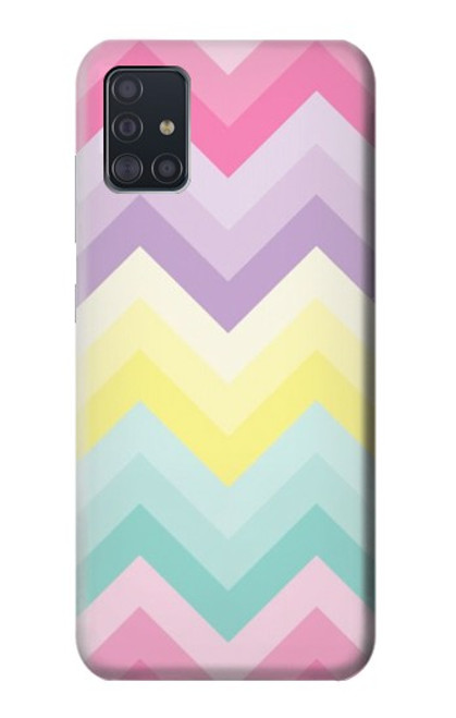 S3514 Rainbow Zigzag Case For Samsung Galaxy A51