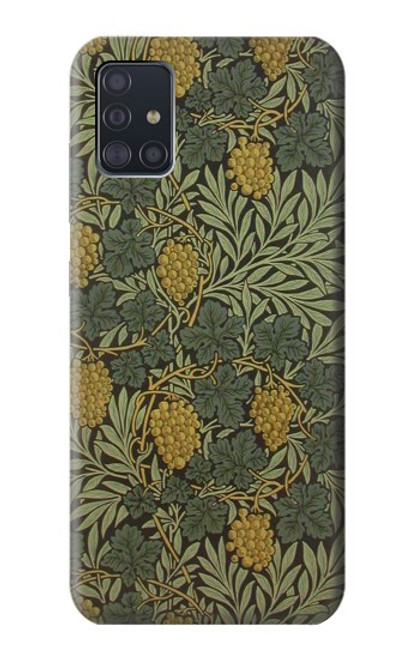 S3662 William Morris Vine Pattern Case For Samsung Galaxy A51