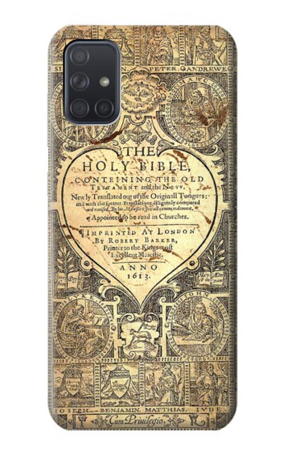 S0330 Bible Page Case For Samsung Galaxy A71