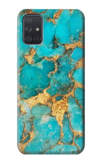 S2906 Aqua Turquoise Stone Case For Samsung Galaxy A71