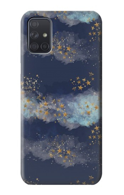 S3364 Gold Star Sky Case For Samsung Galaxy A71