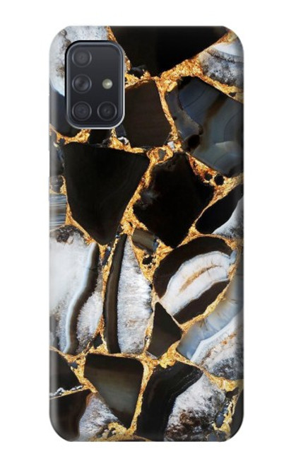 S3419 Gold Marble Graphic Print Case For Samsung Galaxy A71