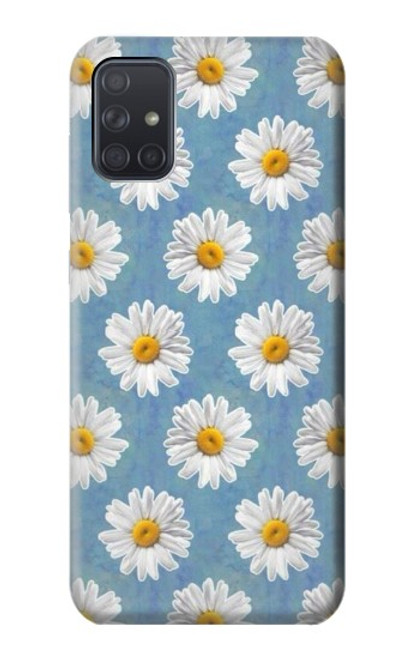 S3454 Floral Daisy Case For Samsung Galaxy A71