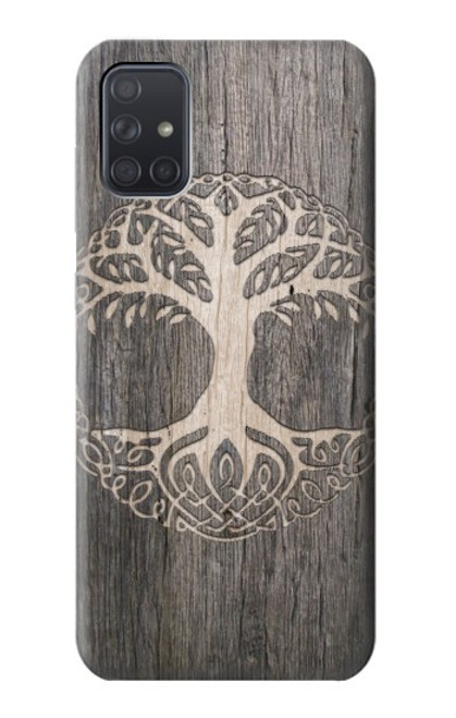 S3591 Viking Tree of Life Symbol Case For Samsung Galaxy A71