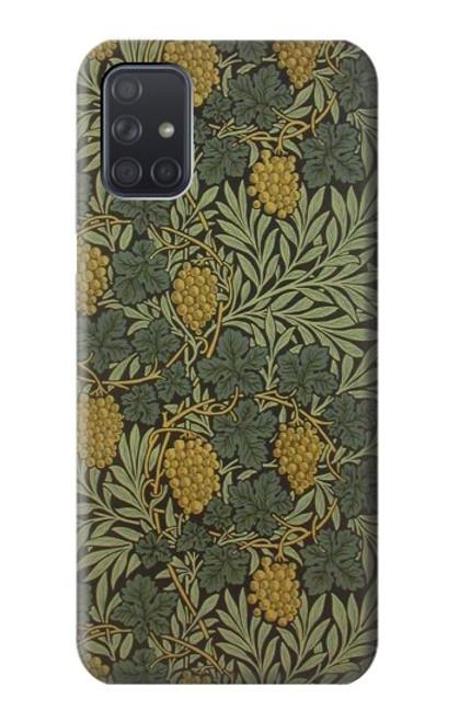 S3662 William Morris Vine Pattern Case For Samsung Galaxy A71