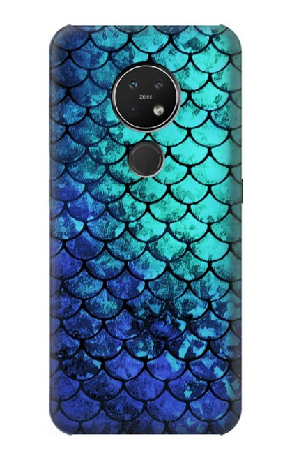 S3047 Green Mermaid Fish Scale Case For Nokia 7.2