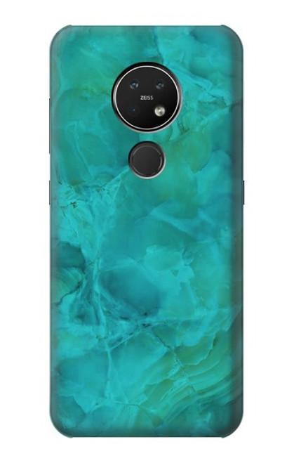 S3147 Aqua Marble Stone Case For Nokia 7.2