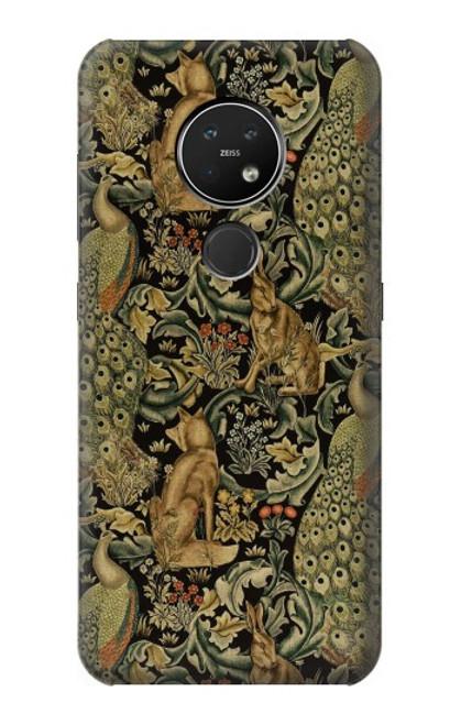 S3661 William Morris Forest Velvet Case For Nokia 7.2