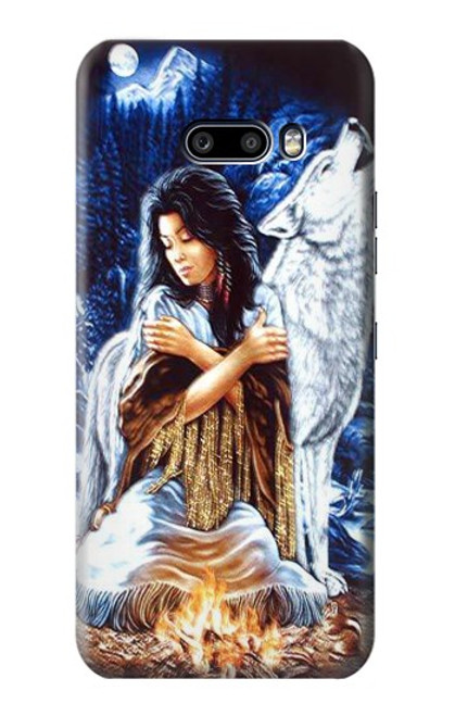 S0147 Grim Wolf Indian Girl Case For LG G8X ThinQ