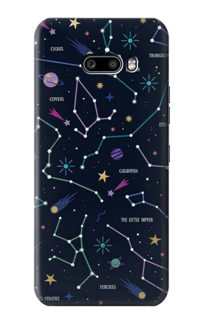 S3220 Star Map Zodiac Constellations Case For LG G8X ThinQ