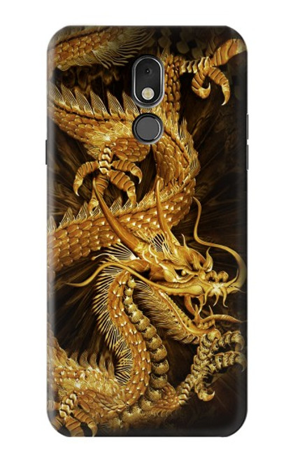 S2804 Chinese Gold Dragon Printed Case For LG Stylo 5