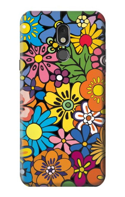 S3281 Colorful Hippie Flowers Pattern Case For LG Stylo 5