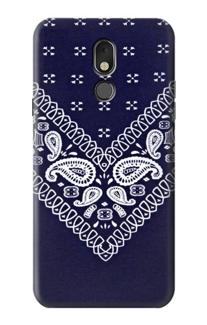 S3357 Navy Blue Bandana Pattern Case For LG Stylo 5