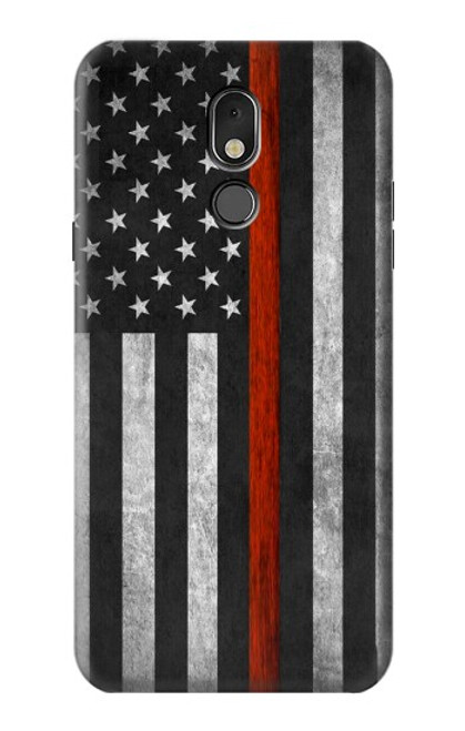 S3472 Firefighter Thin Red Line Flag Case For LG Stylo 5