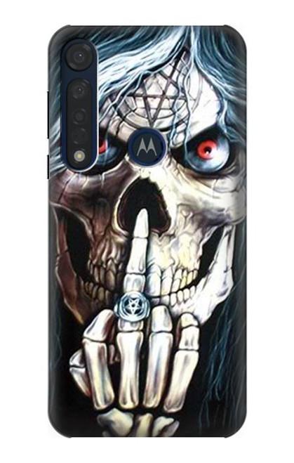 S0222 Skull Pentagram Case For Motorola Moto G8 Plus