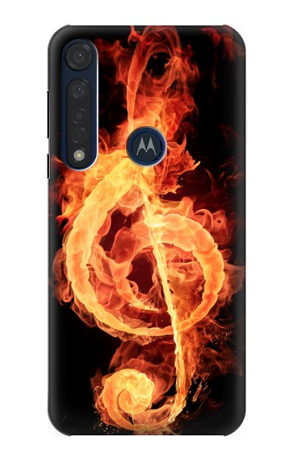 S0493 Music Note Burn Case For Motorola Moto G8 Plus