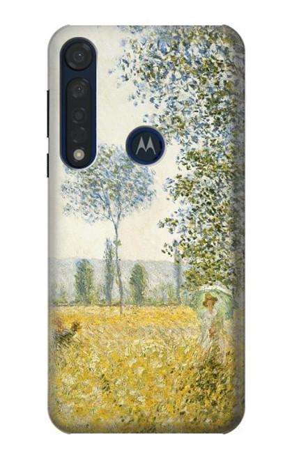 S2682 Claude Monet Fields In Spring Case For Motorola Moto G8 Plus