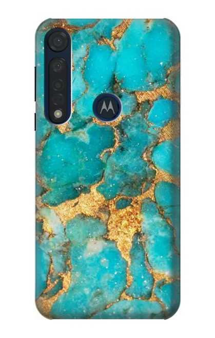 S2906 Aqua Turquoise Stone Case For Motorola Moto G8 Plus