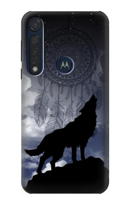 S3011 Dream Catcher Wolf Howling Case For Motorola Moto G8 Plus