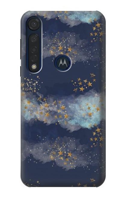 S3364 Gold Star Sky Case For Motorola Moto G8 Plus