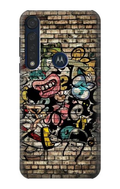 S3394 Graffiti Wall Case For Motorola Moto G8 Plus