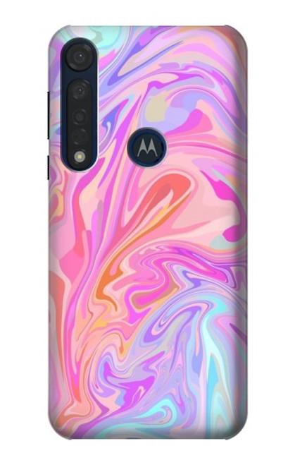 S3444 Digital Art Colorful Liquid Case For Motorola Moto G8 Plus