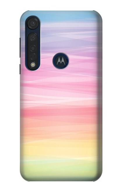 S3507 Colorful Rainbow Pastel Case For Motorola Moto G8 Plus
