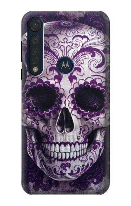 S3582 Purple Sugar Skull Case For Motorola Moto G8 Plus