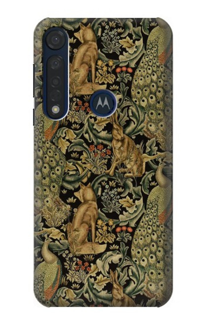 S3661 William Morris Forest Velvet Case For Motorola Moto G8 Plus
