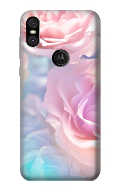 S3050 Vintage Pastel Flowers Case For Motorola One (Moto P30 Play)