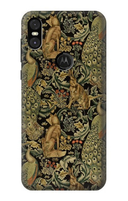 S3661 William Morris Forest Velvet Case For Motorola One (Moto P30 Play)